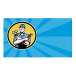 repairman serviceman holding ac manifold gauge wre business card template