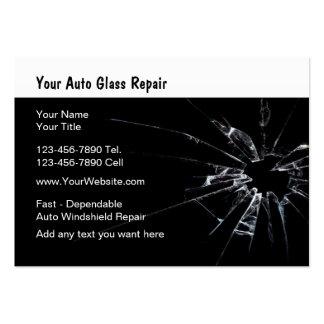 Reparación de cristal auto nueva tarjetas de visita grandes