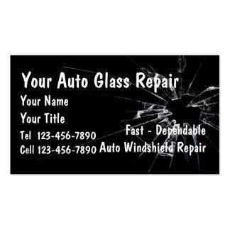 Reparación de cristal auto tarjetas de visita