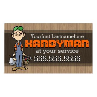 Reparación de Handyman.Fix-It Man.Home. Plantilla De Tarjeta Personal