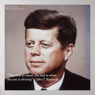 Reparación de JFK el poster famoso de la cita del