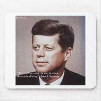Reparación de JFK la cita famosa del tejado Mouse Pad
