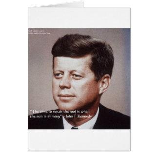 Reparación de JFK la cita famosa del tejado Tarjeta De Felicitación