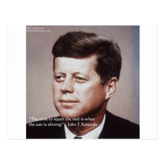 Reparación de JFK la cita famosa del tejado Tarjeta Postal