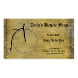 Reparación de la bicicleta del negocio o tarjeta p