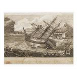 Reparación de la nave de capitán Cooks Postales