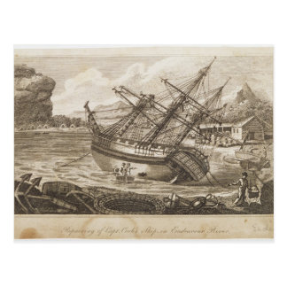 Reparación de la nave de capitán Cooks Tarjeta Postal