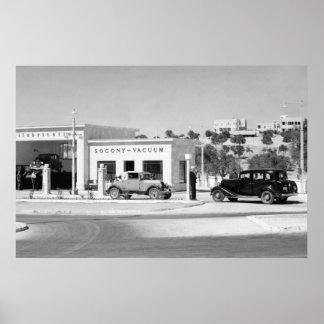 Reparación del coche antiguo 1938 impresiones