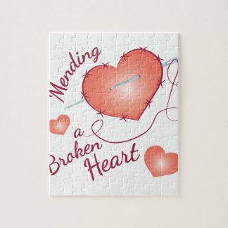 Reparación del corazón quebrado rompecabezas con fotos