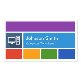 Reparación del ordenador - estilo moderno creativo tarjeta de negocio