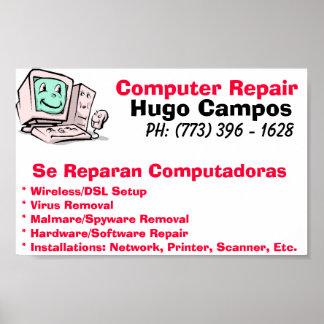 Reparación del ordenador póster