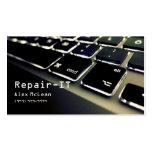 Reparación del ordenador, técnico, ordenador tarjeta de negocio