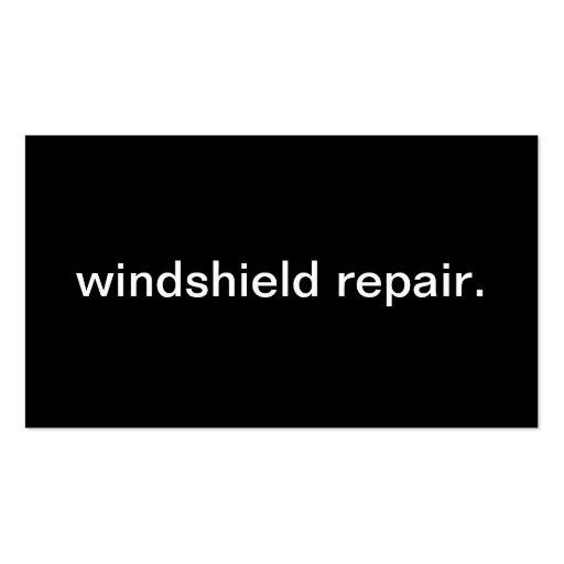 Reparación del parabrisas plantilla de tarjeta de visita