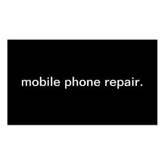 Reparación del teléfono móvil tarjetas de visita