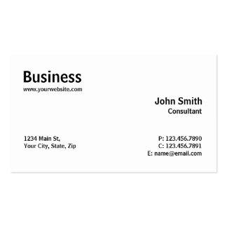 Reparación simple llana moderna profesional del tarjetas de visita