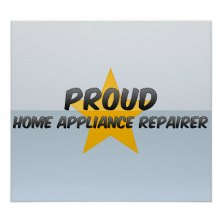 Reparador orgulloso del aparato electrodoméstico poster