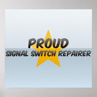Reparador orgulloso del interruptor de la señal impresiones