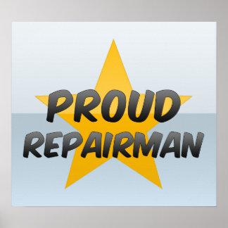 Reparador orgulloso impresiones