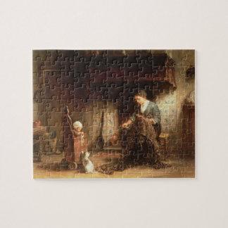 Reparando las redes (aceite en el panel) puzzles con fotos