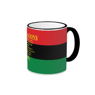 REPARATIONS: IT'S THEIR MONEY, (AA FLAG) Ringer Mu Ringer Coffee Mug