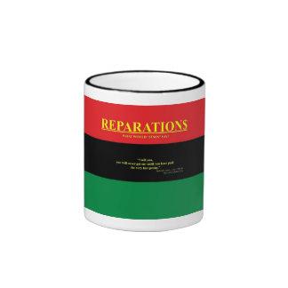 REPARATIONS: What would Jesus say (AA FLAG) Ringer Ringer Mug