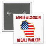 Repare Wisconsin, caminante de memoria Pin