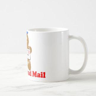 Reparto del correo del hombre de pan de jengibre taza de café
