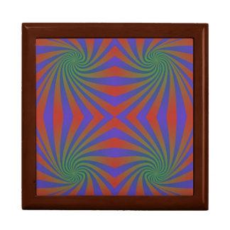 Repating spiral pattern gift box