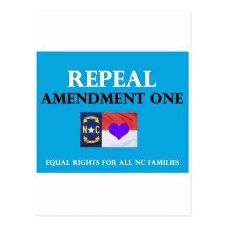 Repeal Amendment One NC Postcard