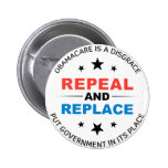 Repeal And Replace 2 Inch Round Button