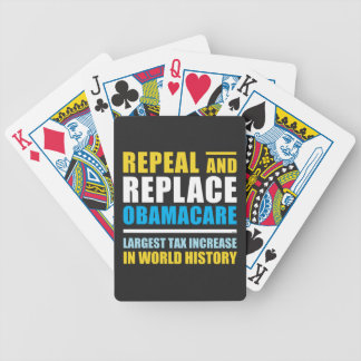Repeal And Replace Obamacare Bicycle Playing Cards