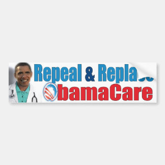 REPEAL and REPLACE OBAMACARE Bumper Sticker