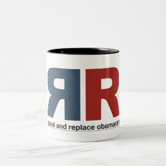 Repeal And Replace Obamacare Two-Tone Coffee Mug