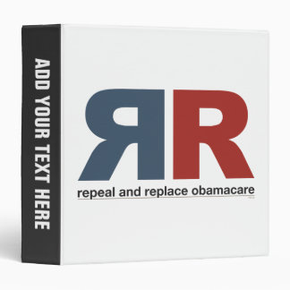 Repeal And Replace Obamacare Vinyl Binders