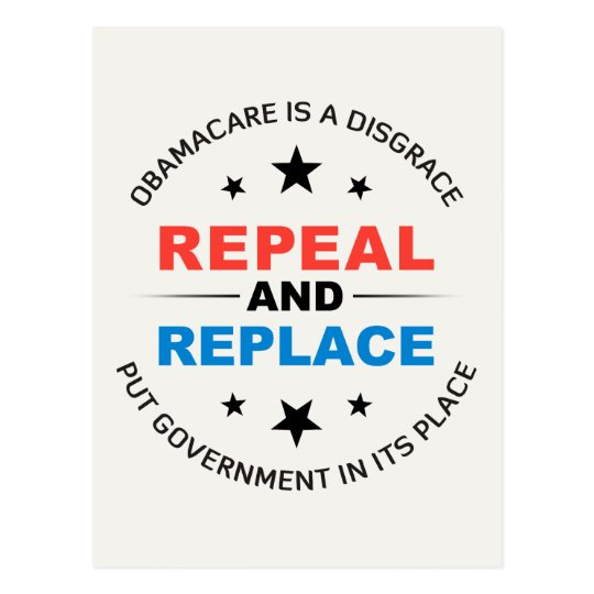 Repeal And Replace Postcard