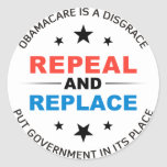 Repeal And Replace Round Sticker