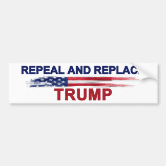 Repeal and Replace Trump Bumper Sticker