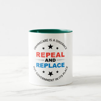 Repeal And Replace Two-Tone Coffee Mug