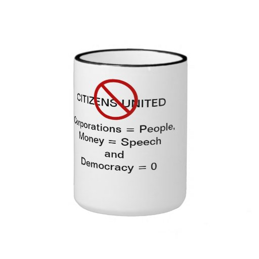 Repeal Citizens United Coffee mug