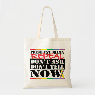 Repeal Don't Ask Don't Tell Canvas Bags
