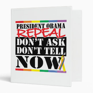 Repeal Don't Ask Don't Tell 3 Ring Binders