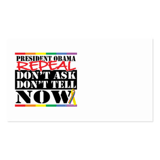 Repeal Don't Ask Don't Tell Business Card Template