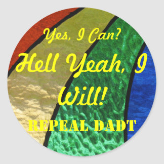 Repeal Don't Ask Don't Tell Classic Round Sticker
