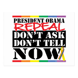 Repeal Don't Ask Don't Tell Postcard