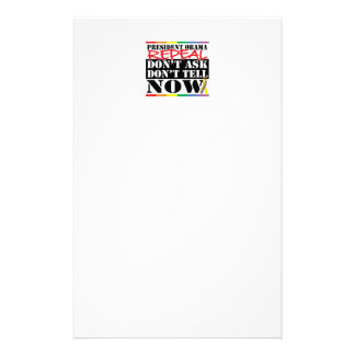 Repeal Don't Ask Don't Tell Stationery Paper