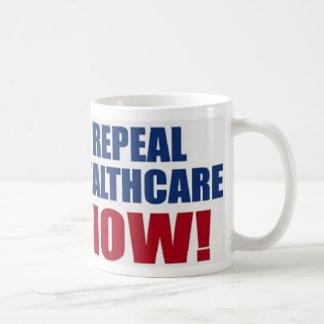 Repeal healthcare NOW! Classic White Coffee Mug