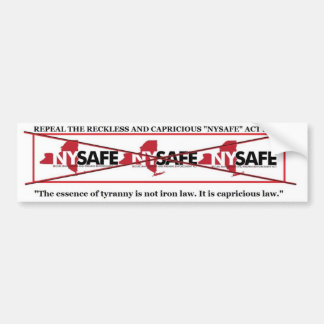 Repeal NY SAFE ACT bumpersticker Car Bumper Sticker