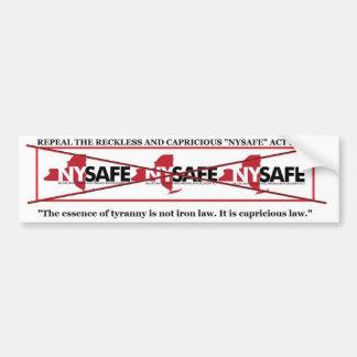 Repeal NY SAFE ACT bumpersticker Car Bumper Sticker