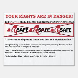 Repeal NY SAFE ACT yard sign
