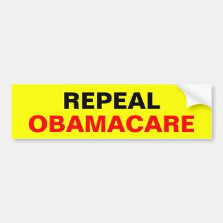 Repeal Obamacare Car Bumper Sticker